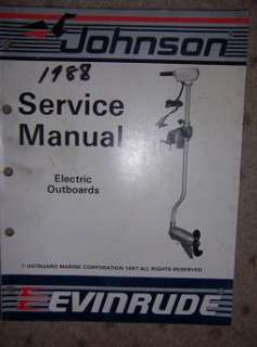 1986  87 Johnson Evinrude Electric Outboard Manual t