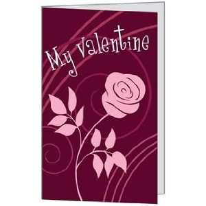 Valentines Day Love Rose Spouse Husband Beautiful Wife Greeting Card