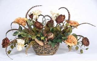 Silk Flower Centerpieces on New Large Hand Crafted Artificial Silk Large Flower Arrangement 35