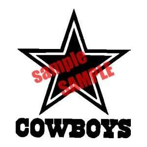 DALLAS COWBOYS NFL TEAM WHITE VINYL DECAL STICKER