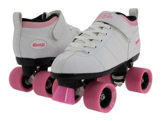 White Ladies Womens Girls Mens Boys Kids Quad Speed Skates