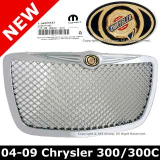 Chrysler 300 300C 05 09 Chrome Mesh Front Grille Grill with OEM