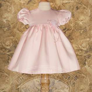Little Things Mean A Lot Baby Girls Cute Pink Satin Easter Baptism