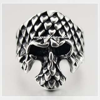 Cool Skull Mens 316L Stainless Steel Ring F006