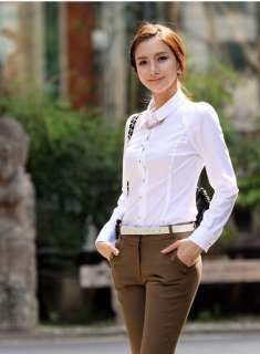 New Womens Clothes Slim Shoulder details Top Shirt Blouse