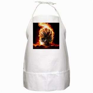 BBQ Apron of Flaming Skull (Harley Davidson Gear)  Carsons