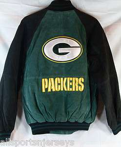 SUEDE LEATHER JACKET   GREEN BAY PACKERS   MEDIUM 787329813367
