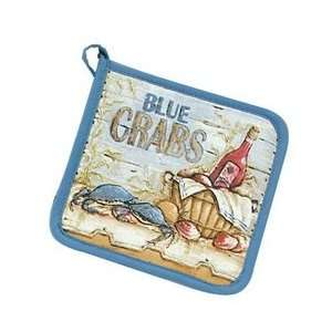 Blue Crab Pot Holder: Home & Kitchen