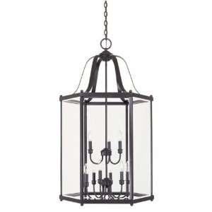 Savoy House 3 7247 9 13 9 Light Foyer Lantern in English Bronze with