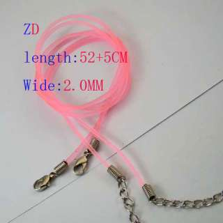 """20""""Pink Rubber PVC Chain Necklace Cord Clasps 2.0mm Jewelry"""