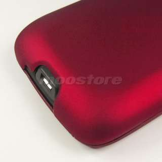 HARD RUBBER CASE COVER POUCH HTC G7 DESIRE BRAVO RED