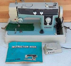Janome S 6000 Sewing Machine Heavy Duty All Metal Dressmaker