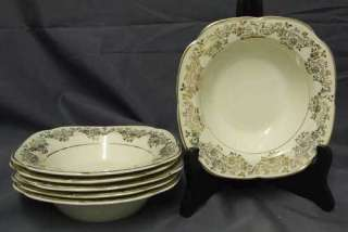 Edwin Knowles China Cream & Gold Flower CEREAL BOWL