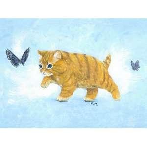Sam the Orange Tabby Kitten Wall Art