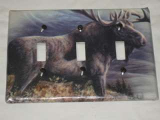 ARE BUYING A MOSSY OAK CAMO/BEAR/DEER/MOOSE SINGLE LIGHT SWITCH COVER