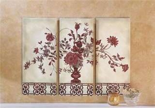 PC Canvas Floral Wall Hanging New