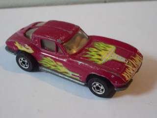 Hot Wheels 1979 MAROON CORVETTE STINGRAY FLAMES