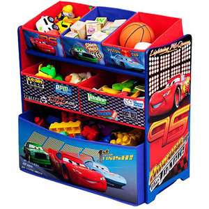 Disney Cars Multi Bin Toy Organizer Chest
