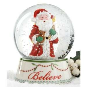 Spode Christmas Tree Snow Globe Mini Santa Believe