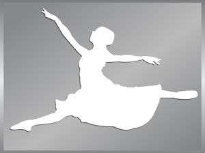 Ballerina silhouette cut vinyl decal #2 Ballet Dancer |