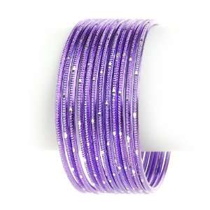 Textured Bangle Bracelet    MANY COLORS TO CHOOSE FROM, Light Purple