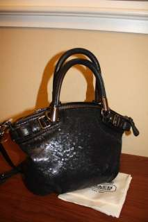Coach Madison Sequins Mini Sophia Satchel Tote Bag 18638 (Limited