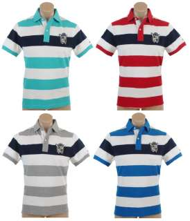 NEW NWT TOMMY HILFIGER MENS CLASIC FIT STRIPED LOGO POLO RUGBY SHIRT