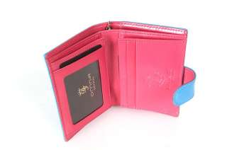 Leather Bifold Mini Credit Card Wallet Coin Purse 6 COLOR WagenAU