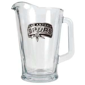 San Antonio Spurs NBA 60oz Glass Pitcher   Primary Logo