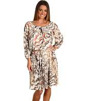 Donna Morgan Blouson Jersey Printed Dress With Pleating Details $82.99