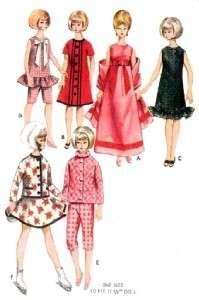 Vintage 11.5 Barbie & Midge Doll Clothes Pattern 3761