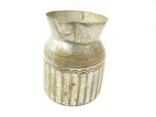 Antique/Vintage Silver Over Copper Brass Milk Pitcher