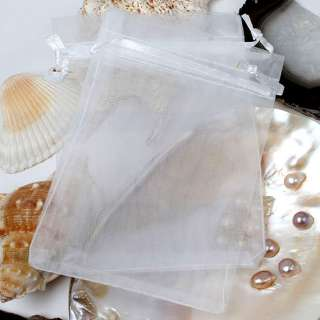 100x LOT Sheer Organza Jewelry Wedding Bags Pouch Gifts