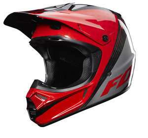 NEW 2012 FOX ADULT V3 CHAD REED CARBON REPLICA HELMET SIZE LARGE