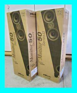 POLK AUDIO MONITOR 50 TOWER SPEAKERS ★SERIES II★ CHERRY