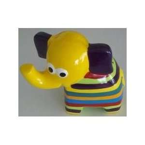 Colored Elephant Coin and Money Bank with Yellow Head
