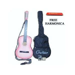 Guitar+Strap+Tuner+Gigbag + FREE Harmonica Musical Instruments