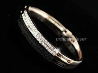 Rose Gold Plated Bangle use Swarovski Crystal SB023