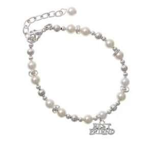 Best Friend Czech Pearl Beaded Charm Bracelet [Jewelry] Jewelry