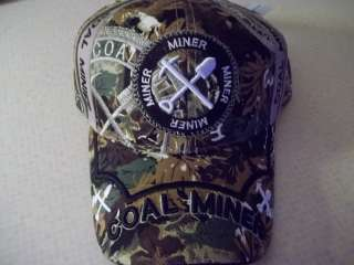 CAP COAL MINERS PICK AND SHOVEL COAL MINING HAT NEW REALLY NICE