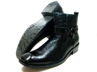 Black Casual Calf High Boots Easy On/Off Side Zip Styled Italy
