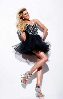 New Crystal Short Cocktail Dress/Mini Skirt/Evening Party Gown Size