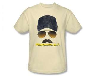 Magnum P.I. PI Geared Up NBC 80s TV Show T Shirt Tee