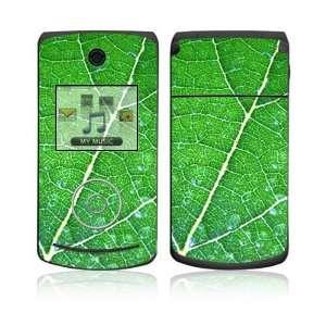 LG Chocolate 3 (VX8560) Decal Skin   Green Leaf Texture