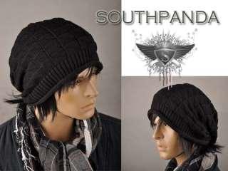 AM002 Men Black Beanie Skull Ski Winter Soft Hat Cap