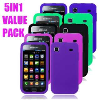 GALAXY S 4G I9000 5X SOFT SILICONE GEL CASE COVER SKIN (VALUE PACK