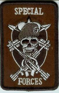 Special Forces Green Beret Skull Tactical Army Patch(2)