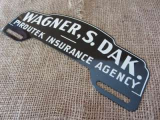 Vintage South Dakota Insurance License Plate Tag Sign Reflector