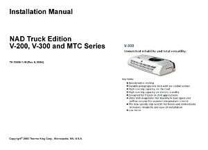Thermo King NAD V 200 V 300 MTC Installation Manual