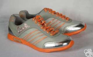 COACH Darla Nylon Light Weight Grey / Orange Womens Sneakers Shoes New